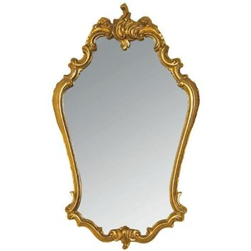 GM Luxury Molise Decorative Wall Art Mirror for Elegant Design, Gold Leaf 22.4x37.4