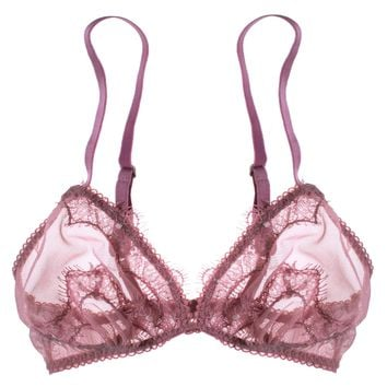 18d23dbcf Lohla Lace Appliqué Bralette in Rose from Uye Surana