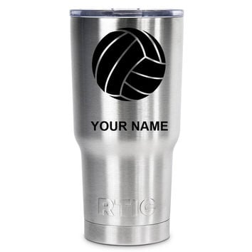 RTIC VolleyBall Silhouette Personalized 20 oz Tumbler