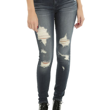 Blackheart Ocean Blue Destructed Skinny Jeans