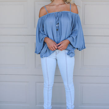 Mystic Sky Blue Full Length High Rise Skinny Jean