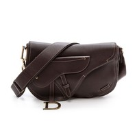 What Goes Around Comes Around Dior Leather Saddle Bag