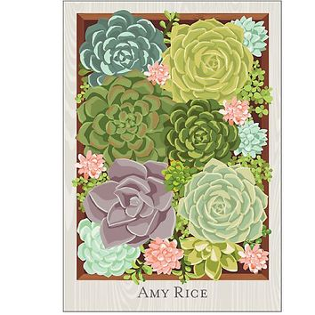 Personalize 2015-2016 Succulents Custom Planner | Paper Source