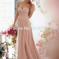 Big Sale On Chiffon Pink/Light Champagne Bridesmaid Dress