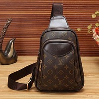 LV Louis Vuitton Trending Women Men Print Leather Zipper Purse Waist Bag Single-Shoulder Bag Crossbody