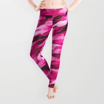 Designer Camo in Hot Pink Leggings by Bruce Stanfield | Society6