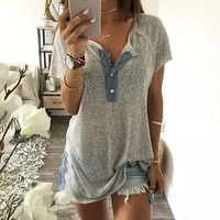 Summer Cosy Cotton T-Shirts Top