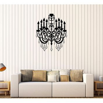 Vinyl Wall Decal Chandelier Lighting Interior Home Room Stickers Unique Gift (444ig)