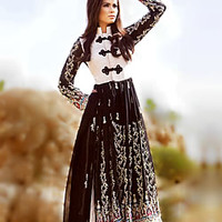 D3105 High Fashion Pakistani Dress for High Fashion Pakistani Ladies Anarkali