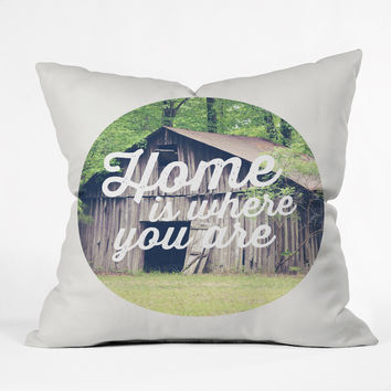 Allyson Johnson Home Is Where You Are Throw Pillow