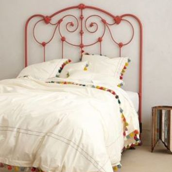 Lindi Fringe Duvet by Anthropologie