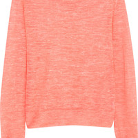 Halston Heritage Fine-knit linen-blend sweater – 60% at THE OUTNET.COM