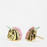 Urban Outfitters - Diament Jewelry For Urban Renewal Painted Unicorn Stud Earring