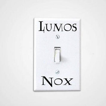 3 Pcs/Set Harry Potter Lumos Nox Light Switch Sticker