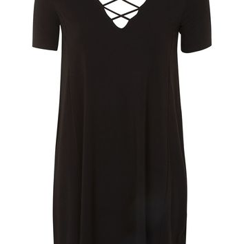 Lattice Front Swing Dress - Dresses - Clothing