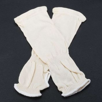 NEW Mechanic Arm Sleeves 33cm Heat protection PPE Leather Welding  Protective Gloves Cut-resistant