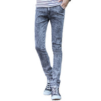 Mens Skinny Faded Jeans