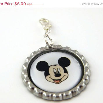 Back To School - Zipper Pull , Backpack Charm , Mickey Mouse Purse Charm , Lunchbox Tag , Party Favor