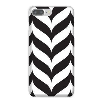 Black and White Rows of Chevron Phone Case