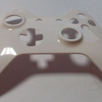free shipping for Xbox One Custom White Wireless Controller Shell Parts faceplate white color