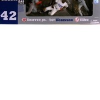 McFarlane Toys Action Figure - MLB Jackie Robinson Day (3 Pack) - ROBINSON, CANO, GRIFFEY, JR.