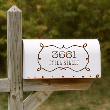 Western Style Mailbox Decal