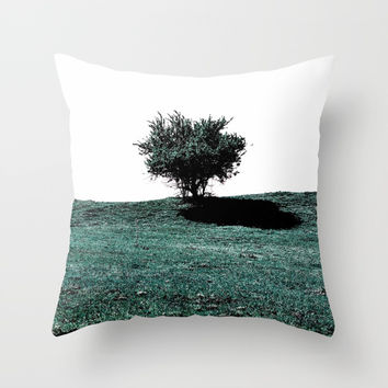 Tree On Hill Throw Pillow by ARTbyJWP