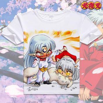 Inuyasha Short Sleeve Anime T-Shirt V3