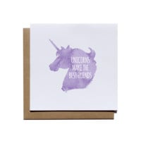Unicorns Make the Best Friends Notecard