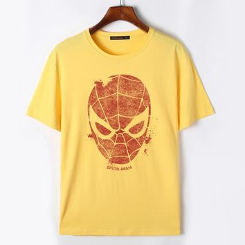Flevans 5XL Compression Shirt Spiderman Men T-shirt Funny Hip Hop Shirts Men Tshirt Tee Shirt Homme Summer Printed Anime T-shirt