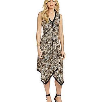 From The Heart Leopard-Print Dress - Black/Brown