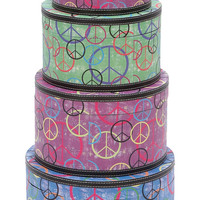 Contemporary Design Wooden Canvas Trendy Hat Box Set of 4