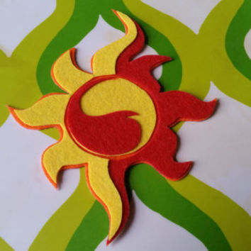 Sunset Shimmer Cutie Mark - My Little Pony Equestria Girls Sticky Felt Patch / Sticker / Magnet