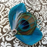 ASHLEY Turquoise and Natural Peacock by Lucyohlucy