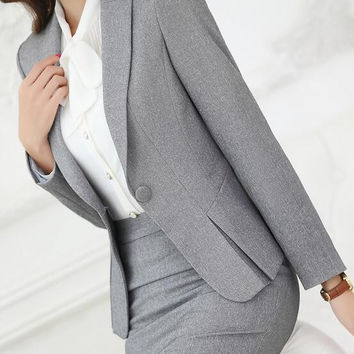 2016 Autumn spring new fashion Small Suit work overalls women blazers and jackets OL blazer women feminino