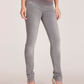 Under Bump Grey Skinny Maternity Jeans