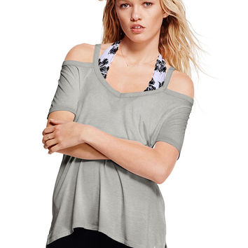 Cold Shoulder Super Soft Tee - PINK - Victoria's Secret