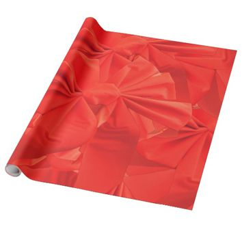 Torch Red Ribbons Wrapping Paper