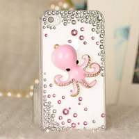 Small octopus case  loves iphone case  iPhone case iPhone 4 case iPhone 4s case iPhone cover