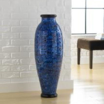 Joseph Allen Ocean Blue Mosaic Decorative Vase
