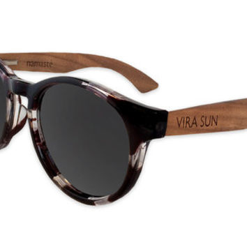 Vira Sun Full Moon Night Mist Grey Mirror Sunglasses