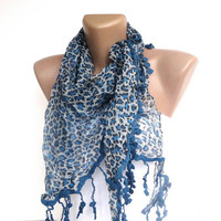 NEW blue leopard WOMEN SCARF , 2013 Scarf trend