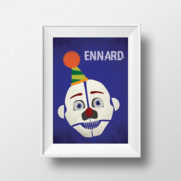 Five Nights at Freddy's Freddy Sister Location Ennard Inspired Printable Wall Art