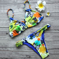 Butterfly Printing Bikinis Sets Swimsuit  Bathing Suit