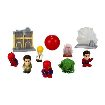 Squinkies MARVEL 10-Piece Bubble Spiderman Exclusive Movie with Tiny Toys Series1