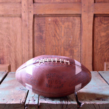 Vintage Leather Football, Official Wilson Leather Football, Green Bay Packers Paul Hornung Edition Football