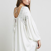 Free People Womens Embellished Strappy Back Tunic