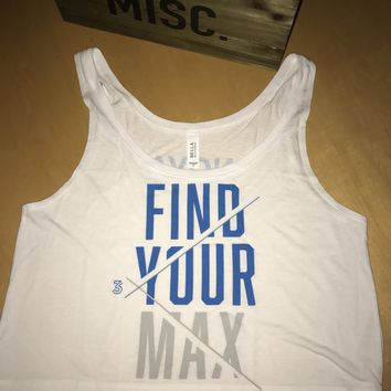 FIND YOUR MAX white Crop top