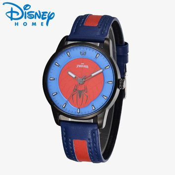 2018 Diseny Mens Watches Top Brand Luxury Marvel Spider-Man Quartz Wristwatches for Students Boys erkek kol saati montre homme