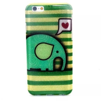 Elephant Twinkle Silicagel creative case Cover for iPhone & Samsung Galaxy